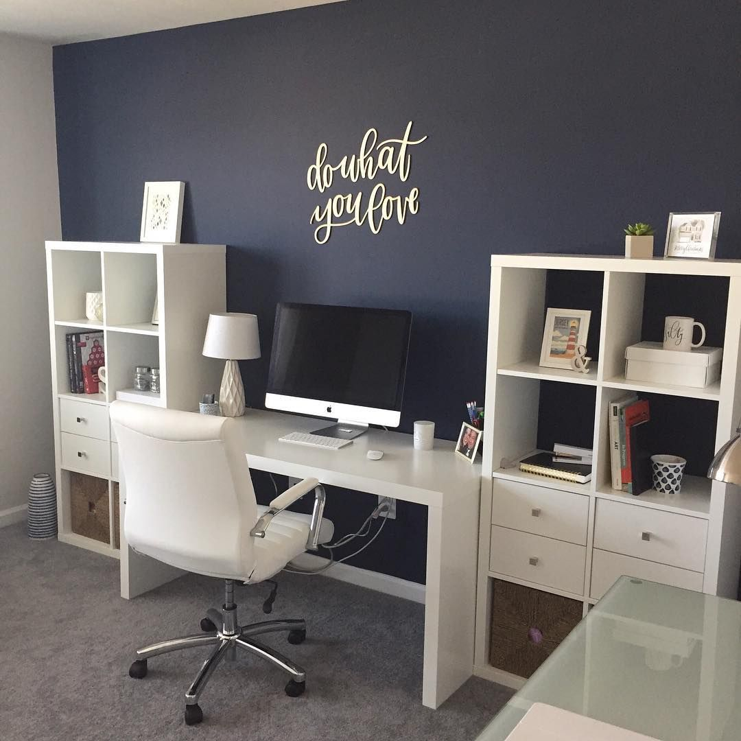 Small Officedesk Decorating: Pin By Kristin Agers On Home. In 2019