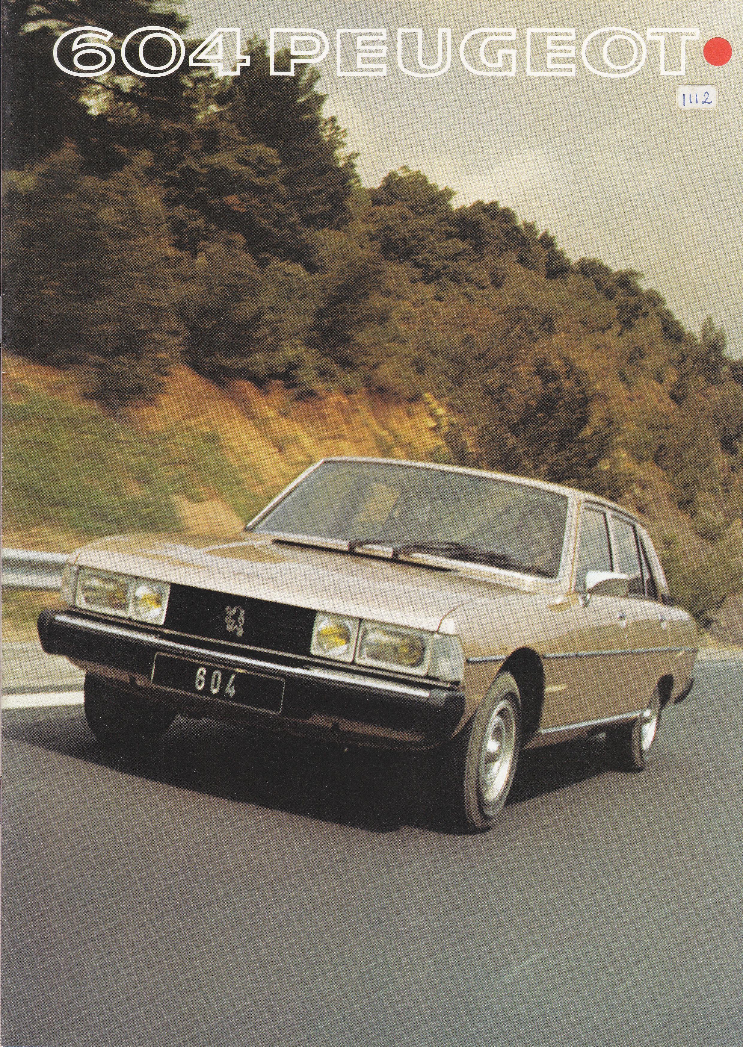 Peugeot 604 Sedan, sales brochure, 1977