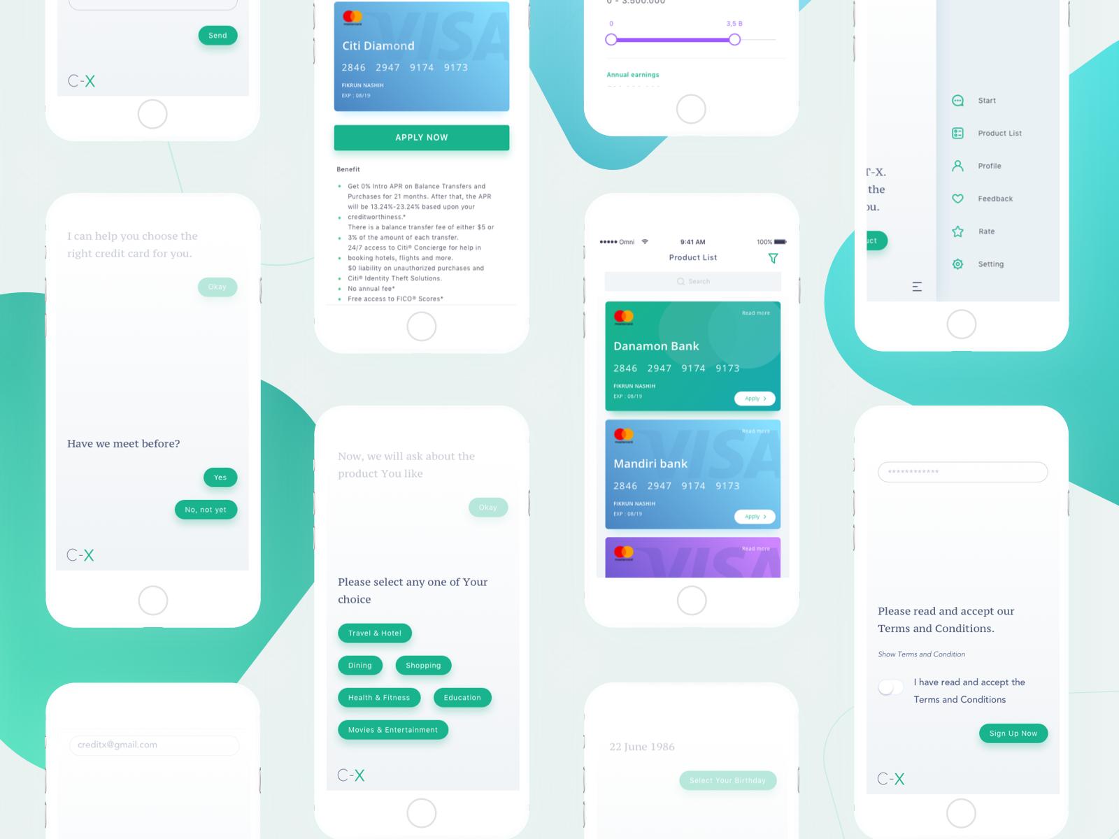 Credit App Anggityuniar Omnicreativora Attachment Web App Design Mobile Web Design Chatbot Design