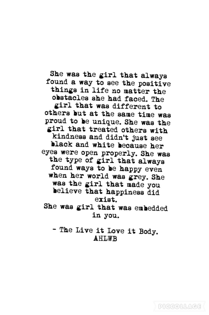 She was the girl Motivational quotes courage strength
