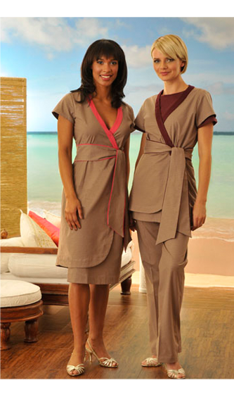Lifehouse spa uniforms oficina pinterest spa salons for Spa uniform uae