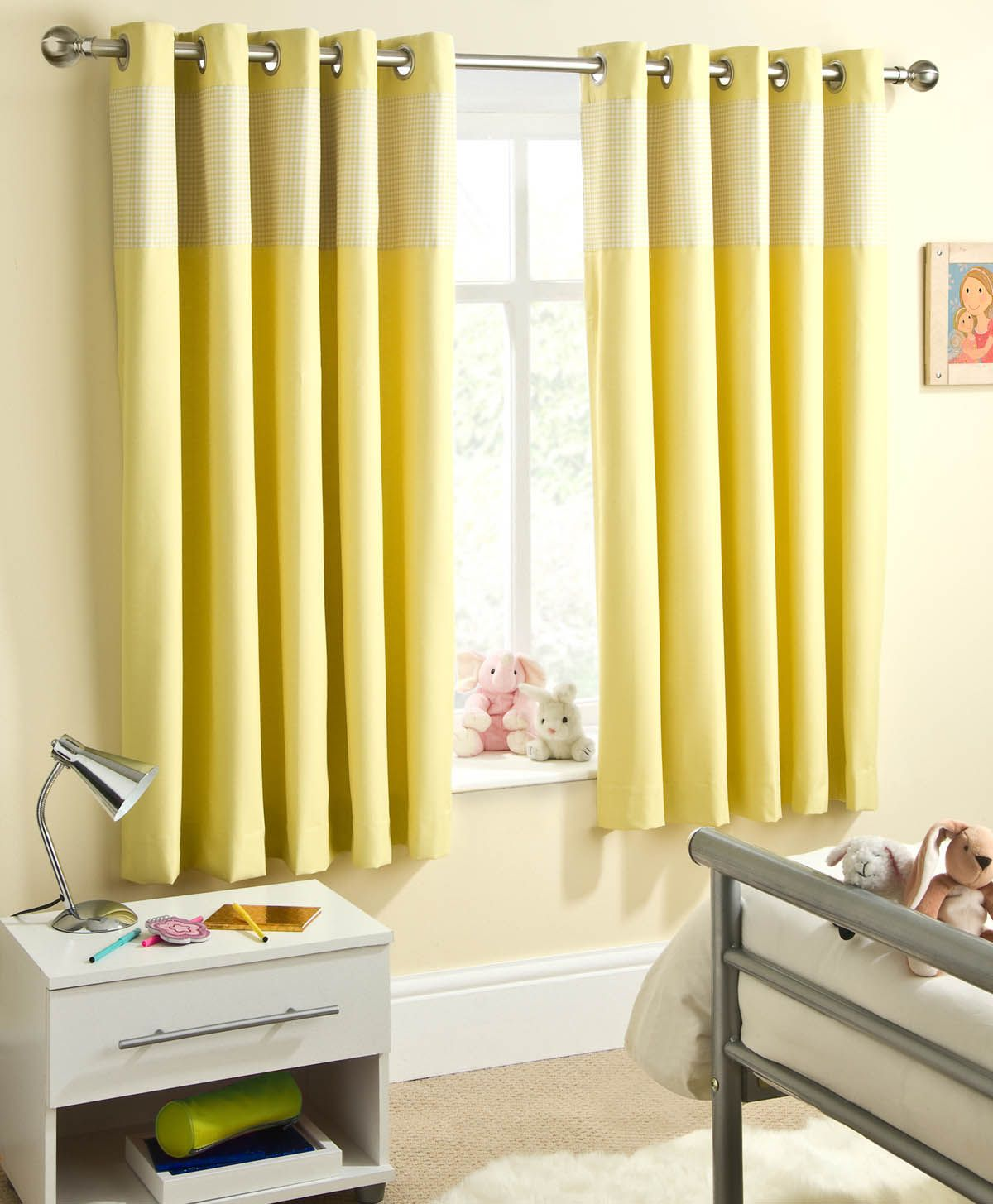 Light yellow curtains - Sweetheart Block Out Eyelet Curtains 28