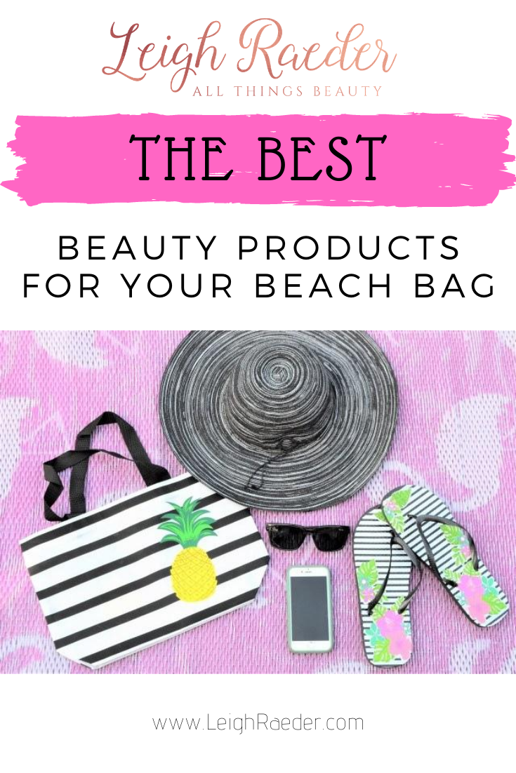 I've gathered a list of essential beauty products that I love that you may want to consider adding to your beach bag this summer! #summer #beachbagessentials #beautyproducts #sunessentials  via @leighraeder