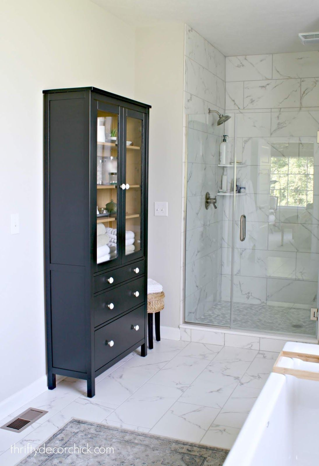 Two Toned Furniture Makeover For The Bathroom Ikea Furniture Makeover Furniture Makeover Ikea Furniture [ 1600 x 1095 Pixel ]