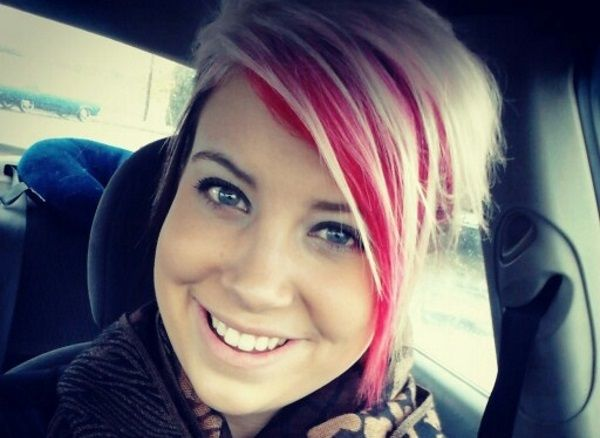 bright hair color ideas for bangs | Hair styles, Pink