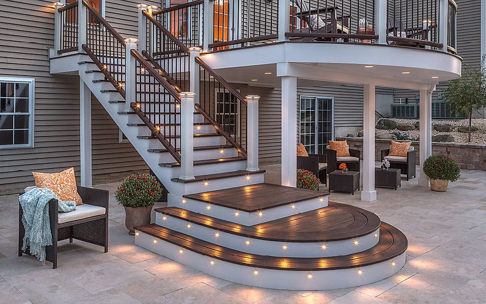 Deck lighting led step stair lights post lights trex tutorial