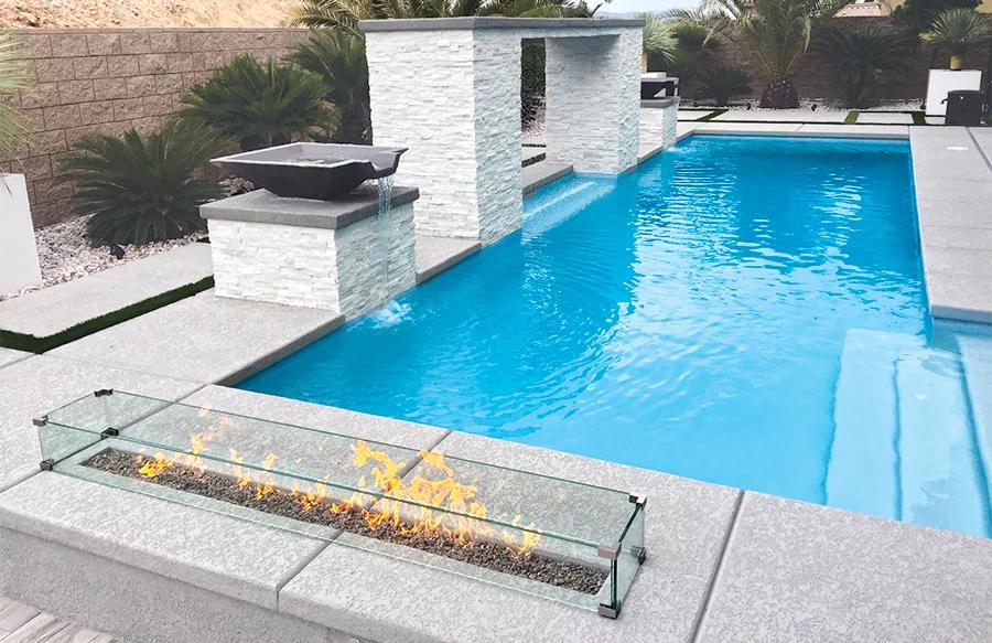 Concrete Pool Decks Popular Decorative Finishes Pools Backyard Inground Swimming Pools Backyard Inground Pool Decks