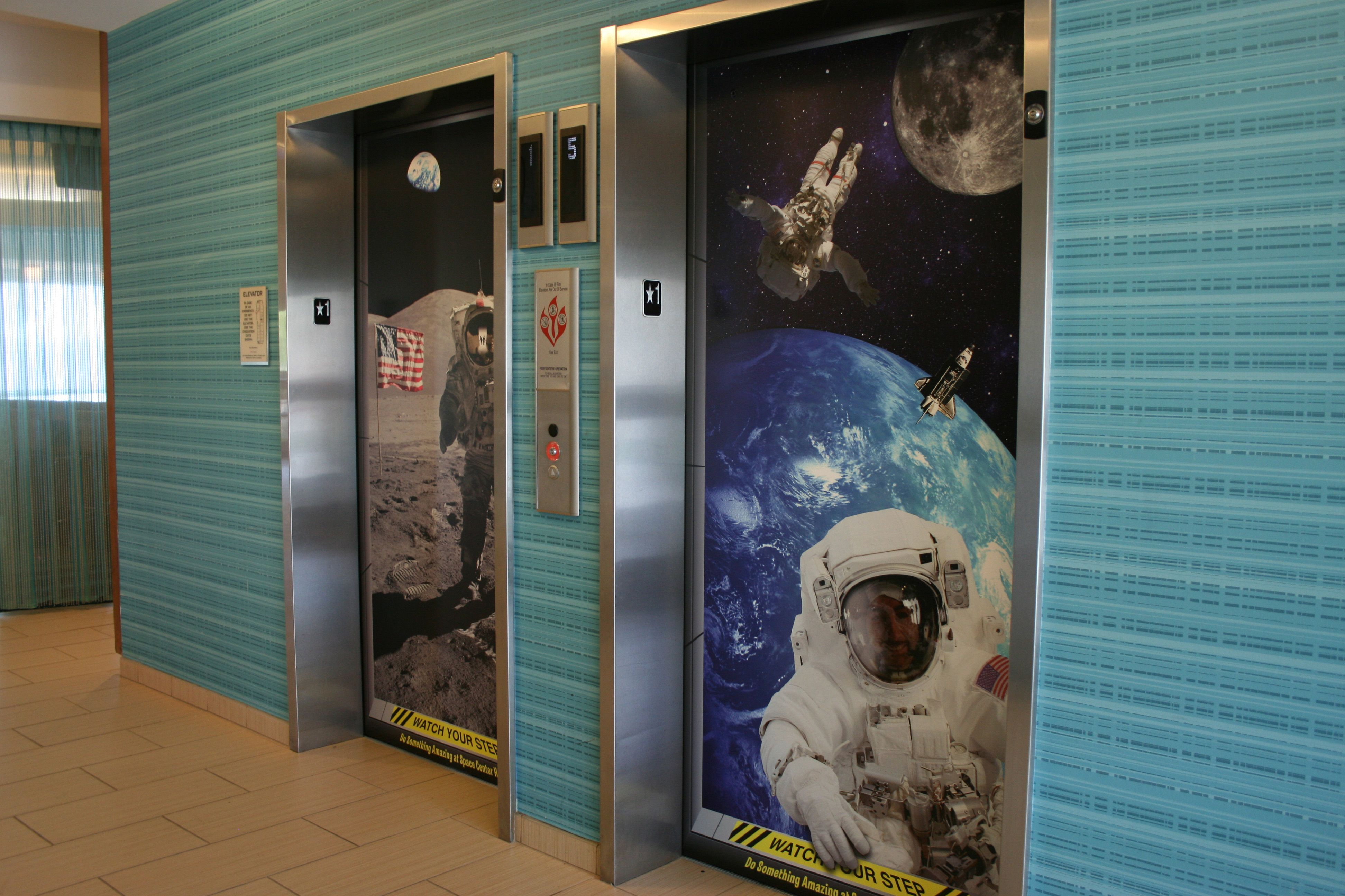 Elevator wrap space graphics for Elevator flooring options