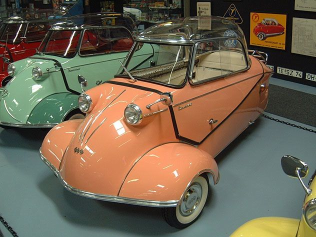 The Messerschmitt, 1960  This looks like Cousin Its car from the Addams Family