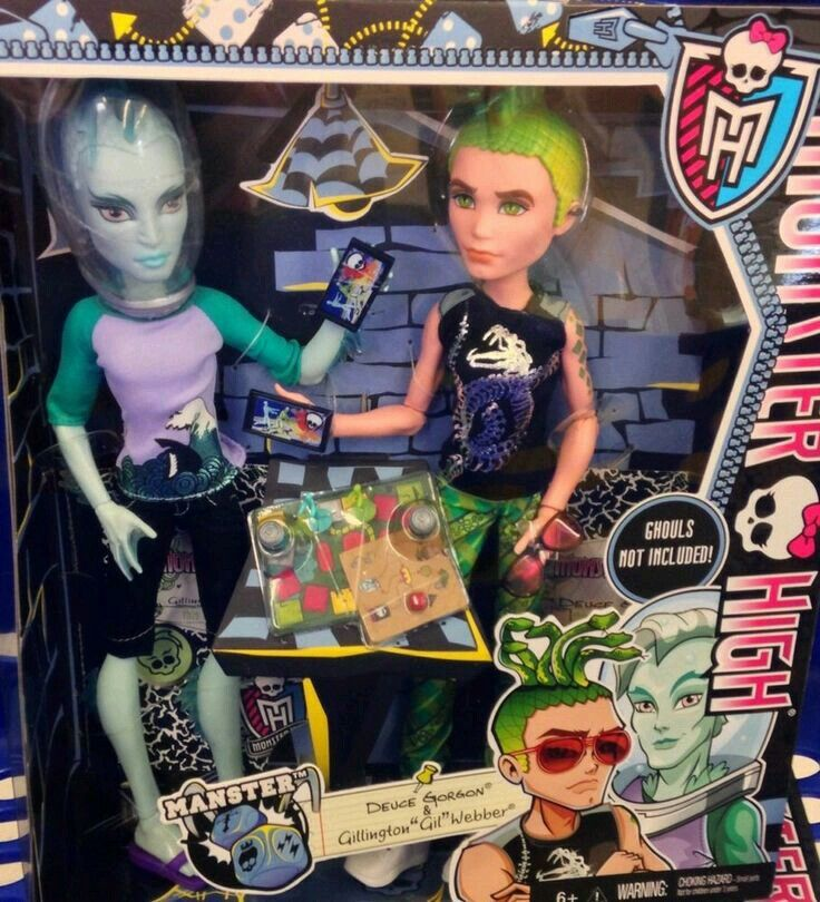 monster high mansters gil and deuce doll 2 pack monster high