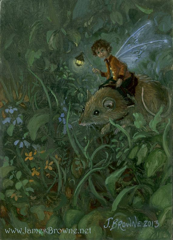 Lenny Lune Fairy and Mouse Signed 8.5x11 Print von brownieman, $5.00