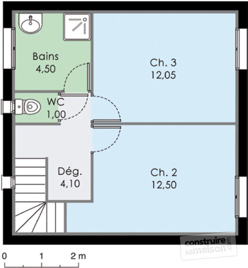 Résultat de recherche dimages pour plan maison 90 m2 1 chambre rdc 2