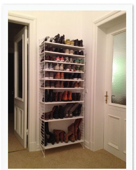 skohylla string home hallförvaring Pinterest String system, Compact living and Timeless