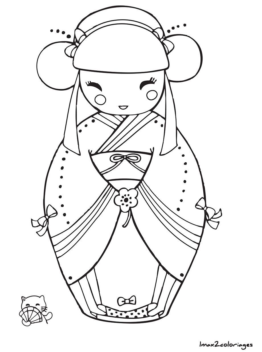 20 ideeën over Kokeshi dolls  kokeshi, japanse quilts, patronen