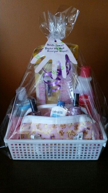 Hands Down Gift Basket With Hand Sanitizer Nail Polish And
