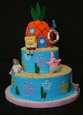 Admirable Spongebob Party Cake Spongebob Birthday Cake Birthday Cake Kids Birthday Cards Printable Nowaargucafe Filternl