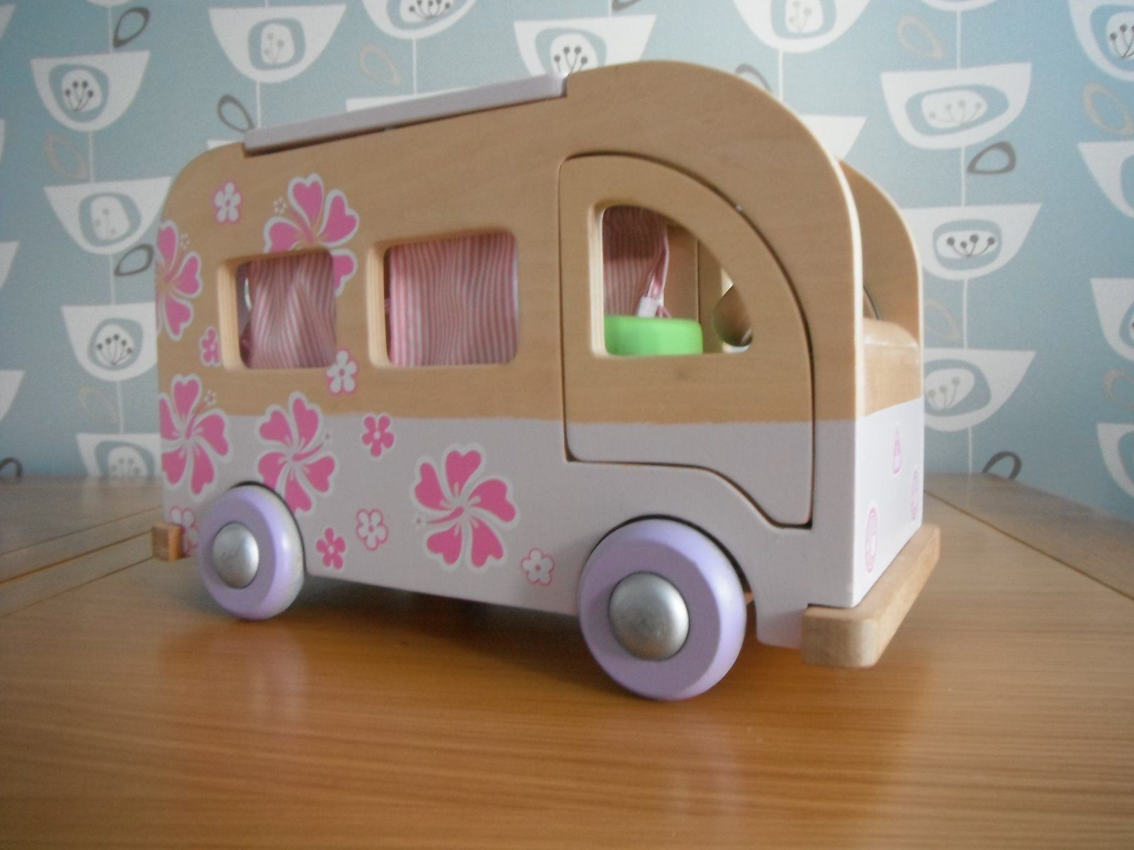 Early Learning Centre ELC Rosebud Wooden Camper Van