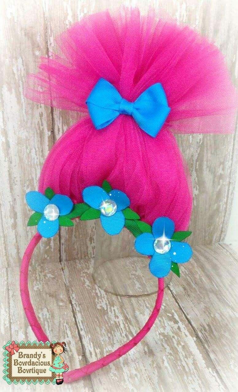 Trolls poppy headband bows bows more bows pinterest trolls poppy headband solutioingenieria Choice Image