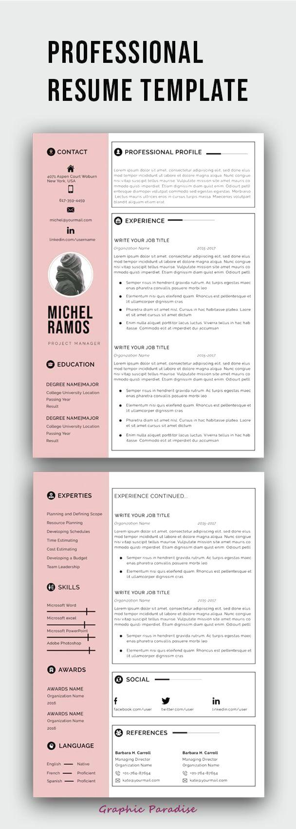 Epingle Sur Resume Design