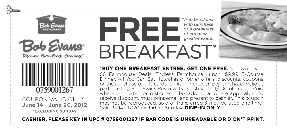Second Breakfast Free At Bob Evans Printable Coupons Free Breakfast Bob Evans
