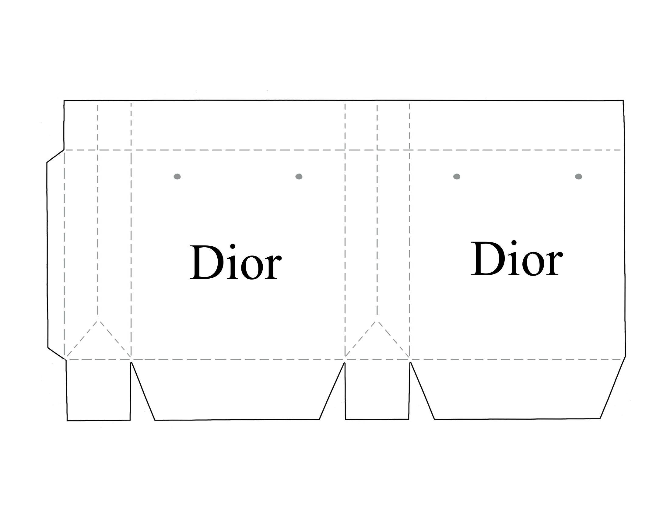 Mini Printable Dior Shopping Bag Shopping Bags Diy Box Template Printable Printable Box