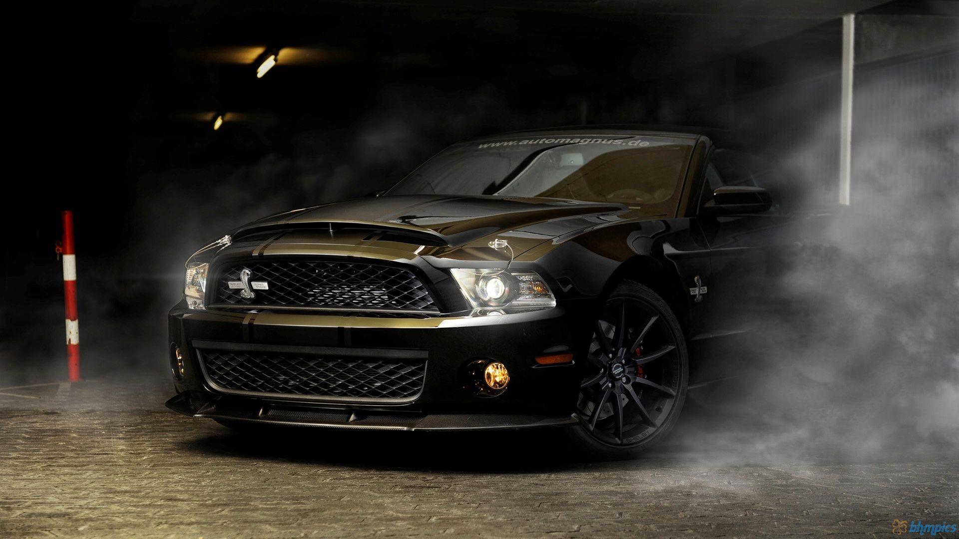Black Ford Mustang Gt500 Super Snake Wallpaper