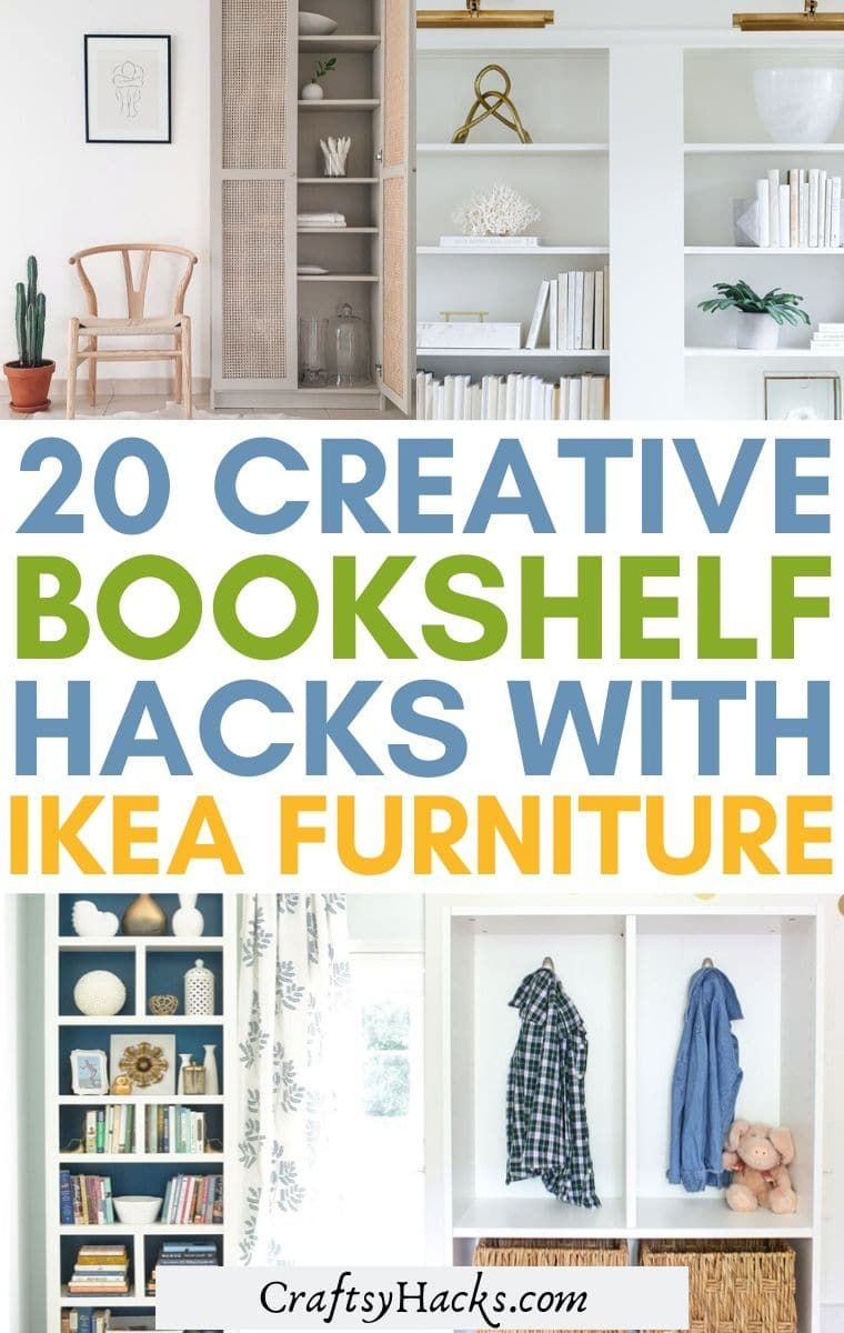 If you are looking to give you home a makeover on a budget you can use affordable IKEA furniture to get these IKEA bookshelf hacks that look good in any room! You will love how these IKEA bookshelf ideas look in your home decor. #IKEAHacks #HomeDecor