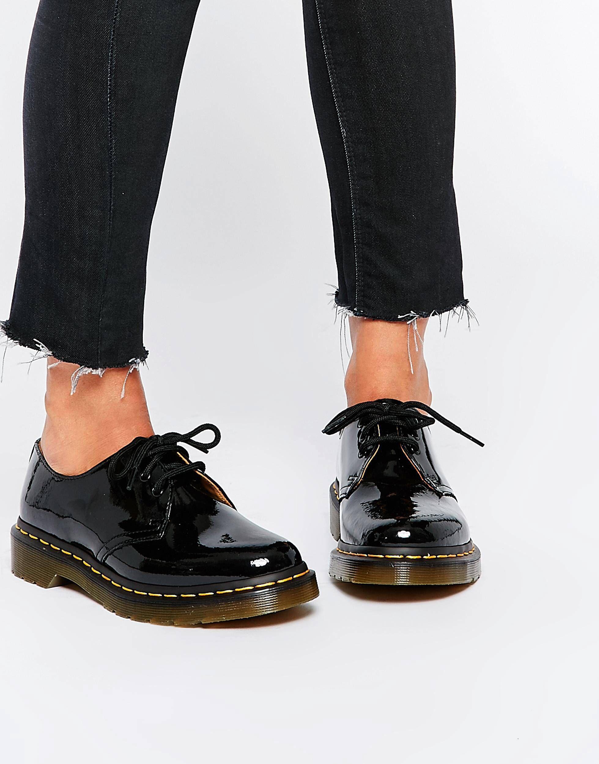53b404ff6e0 dm dr marten 1461 classic black patent flat shoes streetwear, smartwear,  winter wear, winter fashion,