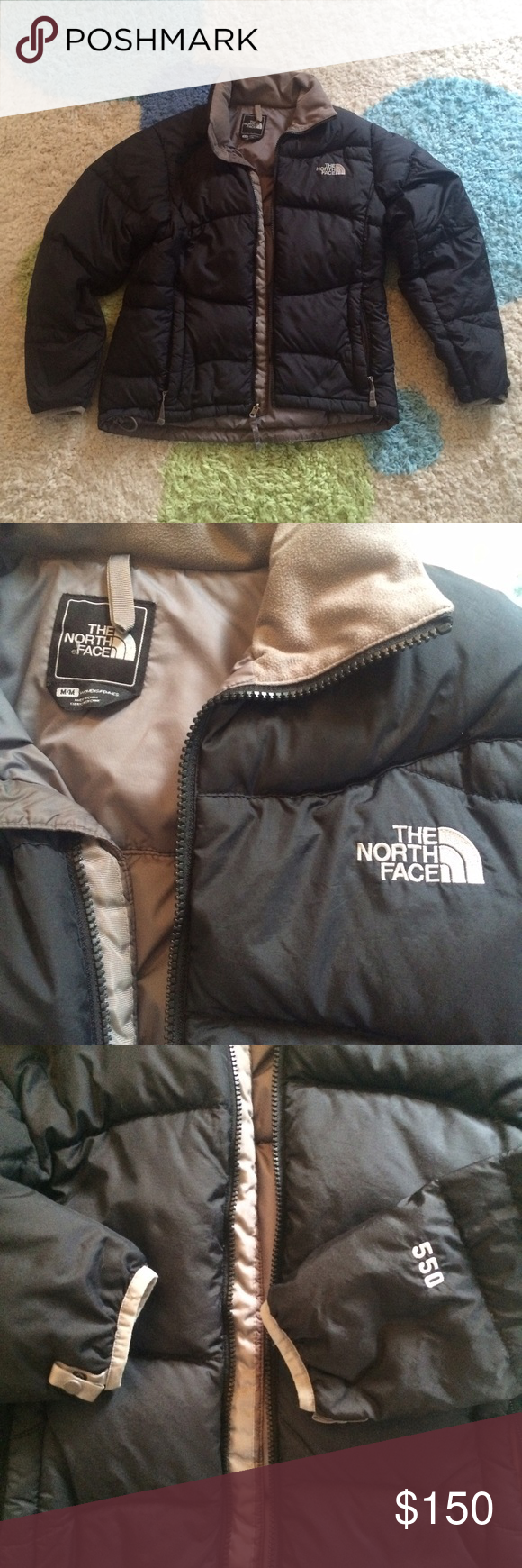[The North Face] Black Puff Jacket Size Medium Worn some but no flaws! 550 style! Classic coat that's perfect for winter which will be here soon! Down jacket! North Face Jackets & Coats Puffers