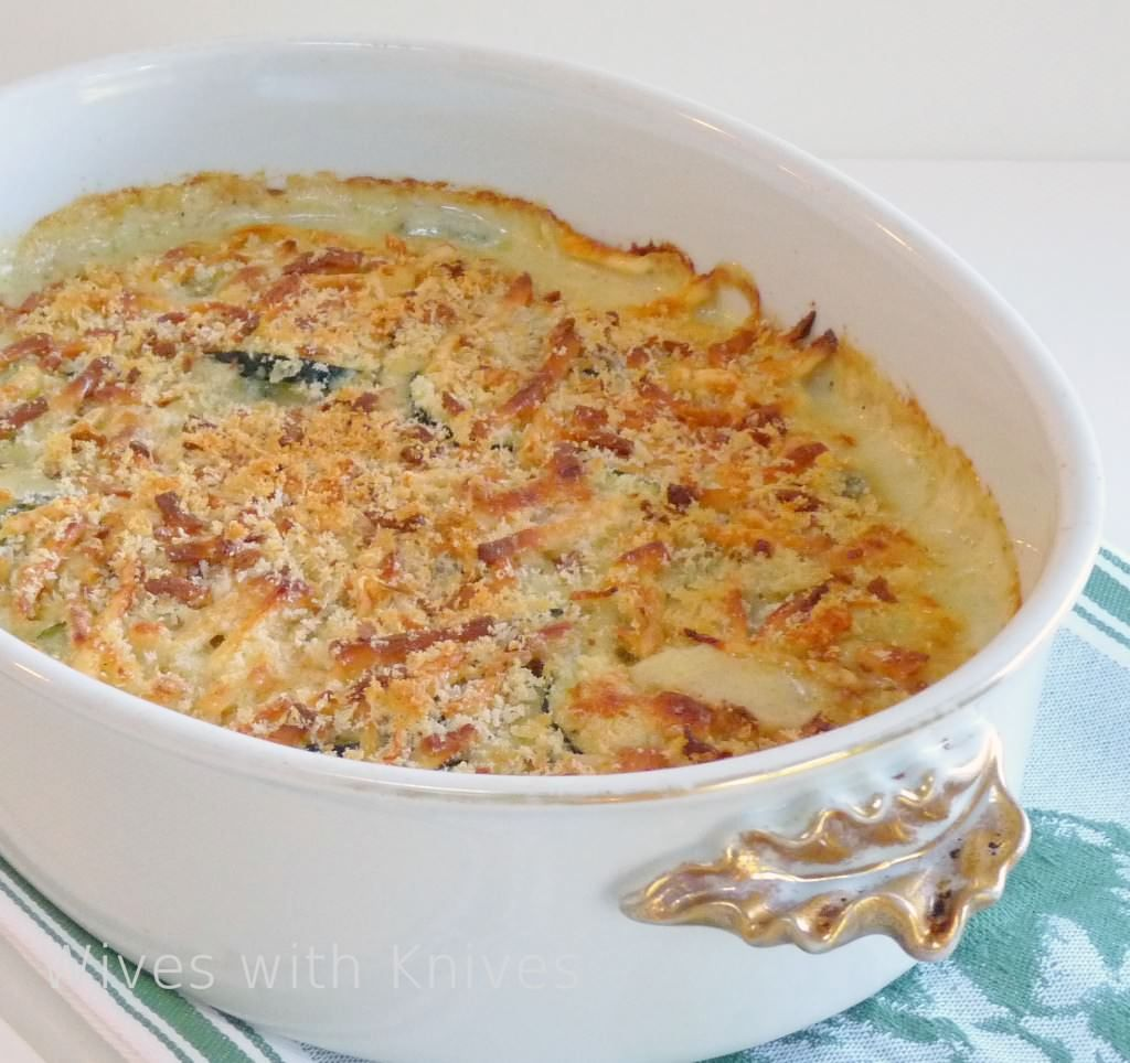 ina's zucchini gratin  recipe  food recipes food