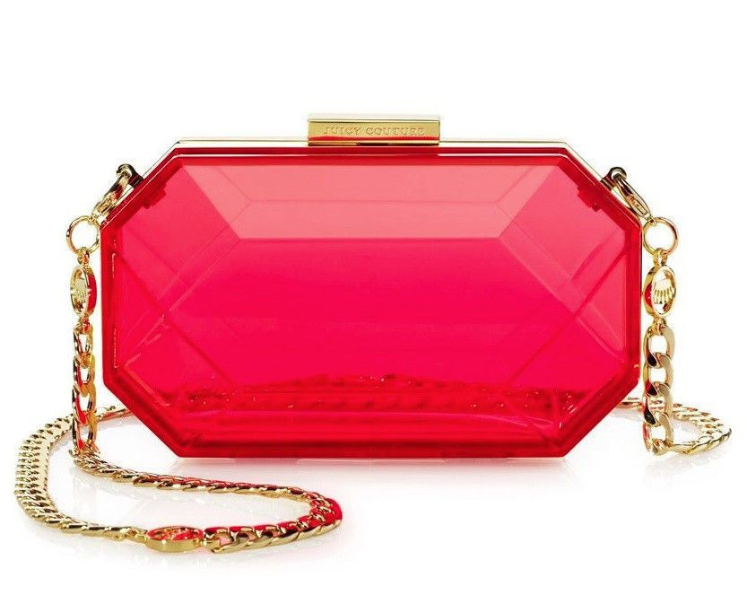 JUICY COUTURE PINK GEM MINAUDIERE BAG ORG. $148.00 BNWT #JuicyCouture #Clutch