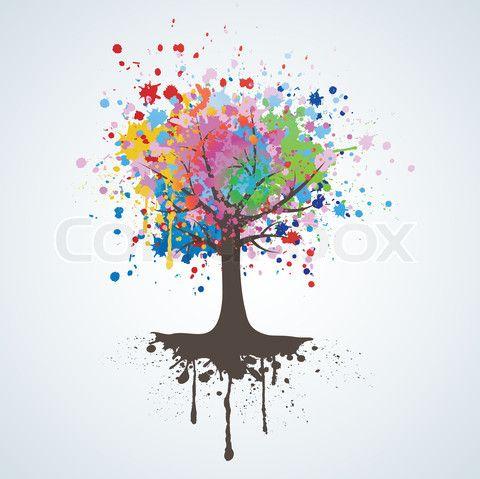 Grafiken von \'Abstrakte bunte Baum.\' on Colourbox | طبيعة ...