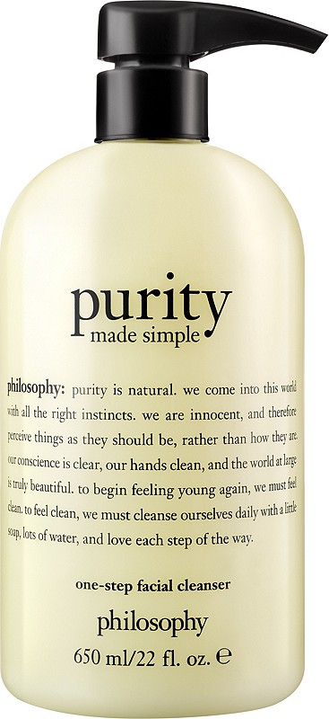 Philosophy S Purity Made Simple One Step Facial Cleanser Is America S 1 Facial Cleanser That Cle Simple Cleanser Purity Made Simple Philosophy Purity Cleanser