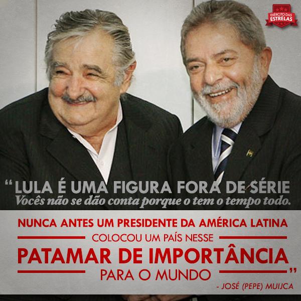 ÓDIO DA ELITE CORRUPTA NUNCA VENCERÁ O AMOR PELO POVO DE LÍDERES COMO PEPE MUJICA E LULA! #MujicaForever #LulaForever