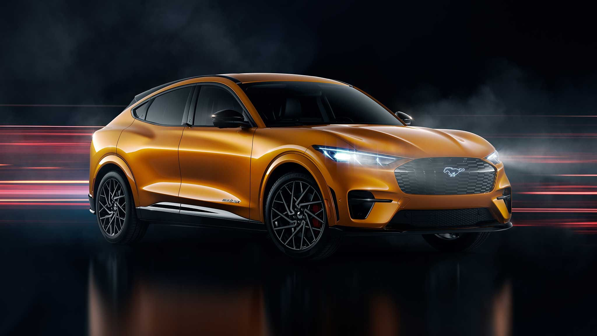 2021 Ford Mustang Mach E Gt Is Now Available With Cyber Orange Paint In 2020 Ford Mustang Mustang Ford