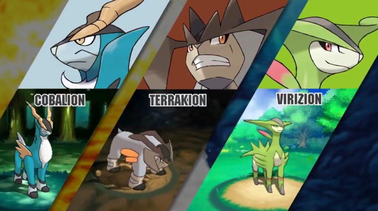 Cobalion, Terrakion, and Virizion will catchable in ...
