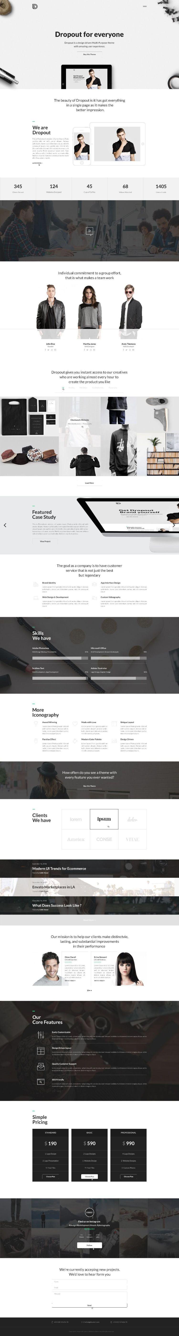 Inspiration By Dropout Quality Web Design Unique Web Design
