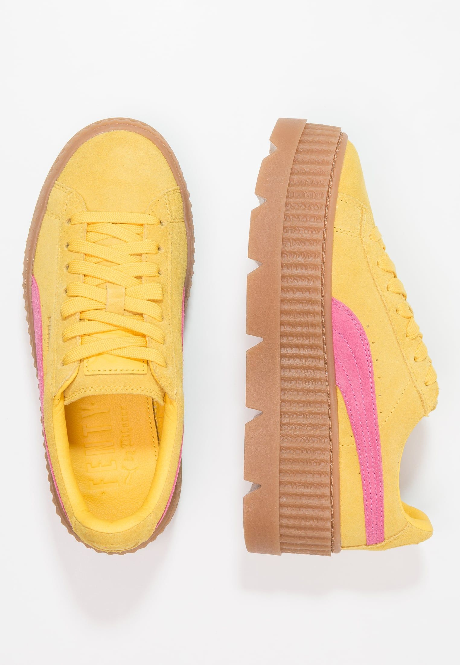 reputable site ab2f6 90ba2 CLEATED CREEPER SUEDE - Sneakers - lemon/carmise rose ...