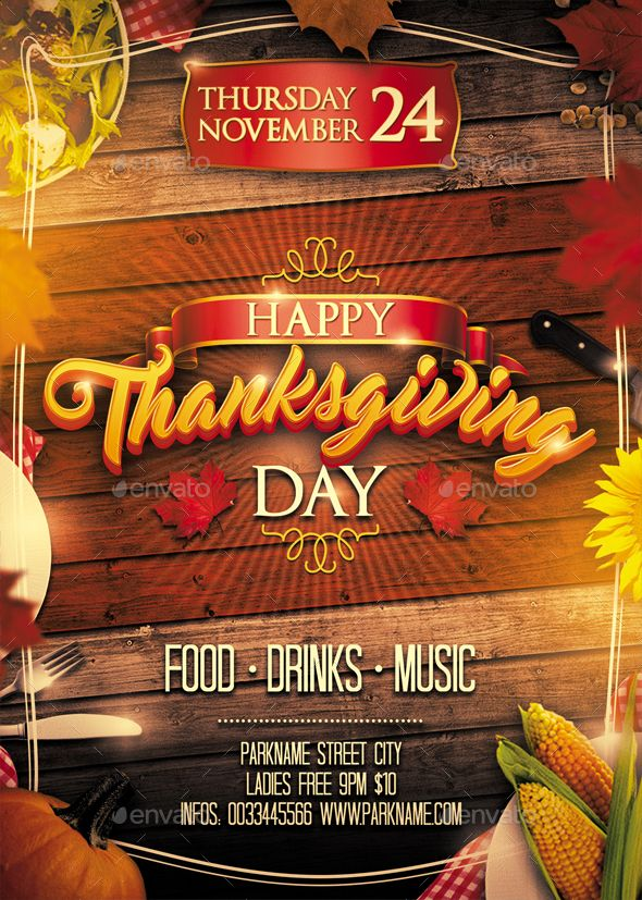 Thanksgiving Flyer Template Psd Templates And Flyer Template