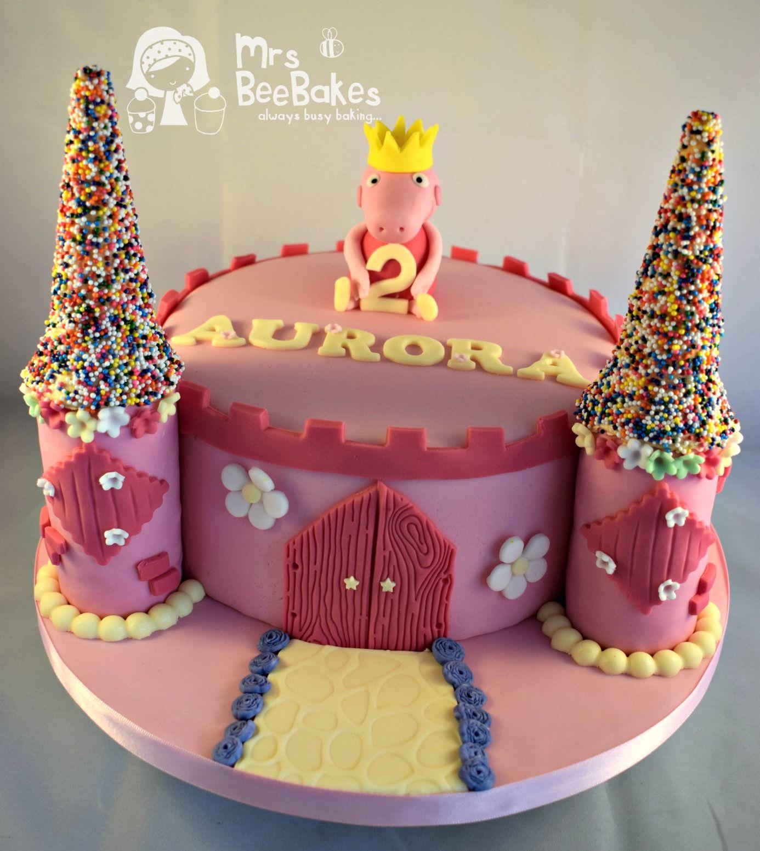 peppa pig castle cake   children's birthday cakes   pinterest