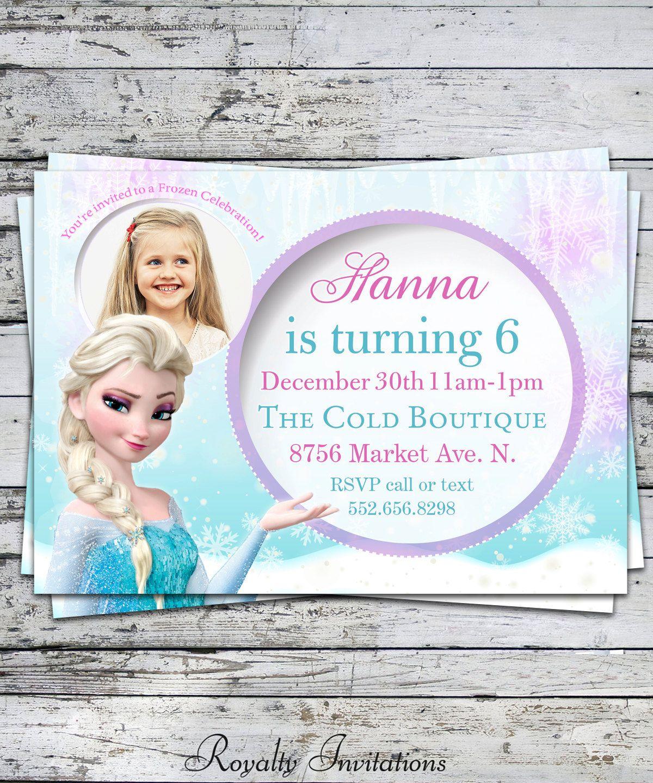 Disney Frozen Birthday Party Invitation Kids by RoyaltyInvitations ...