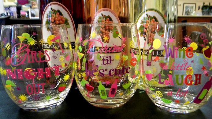 GNO: Girls Night Out stemless glasses - so much fun!