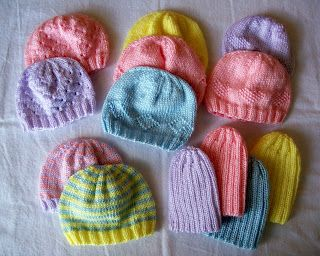 32ef5a4e5 Preemie hats - great for donating to hospitals or to send overseas ...