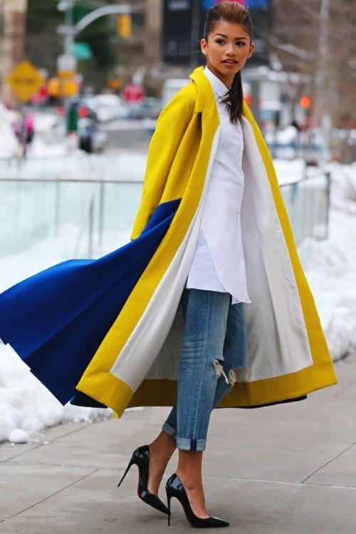 Technicolor coat