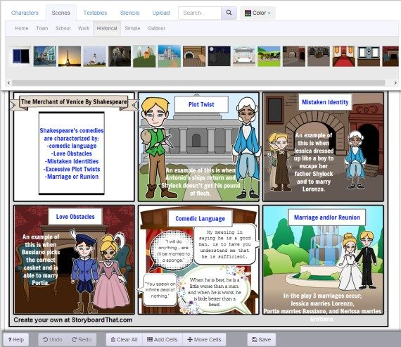 Online Visual Storyboard Creator Good For Getting Students