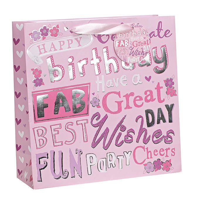 Birthday Gift Bag For Her Hy X Small Pink Bab090 Friend In Home Furniture Diy Celebrations Occasions Wring