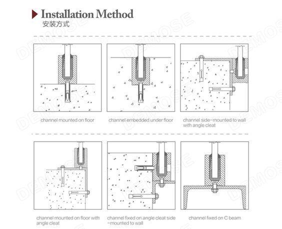 Detalle baranda en vidrio detalles constructivos for Detalle barandilla vidrio