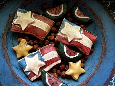 And Baby Makes Five: Tutorial Tuesday: Star-Spangled Salt Dough Flags {Part One}