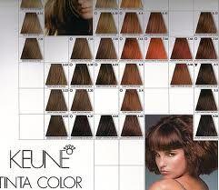 Keune Tinta Hair Color Hair Color Chart Hair Color Shades Hair Chart