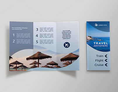 Check Out New Work On My Behance Portfolio Travel TriFold